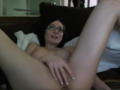 Cute amateur girl in glasses fucks ass with toy movies at sgirls.net