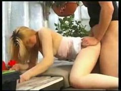 The gardener fucks a blonde teenager tubes