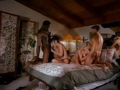 Interracial foursome from the 80s videos