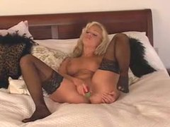 Hot bimbo in lingerie fucks pussy with toy movies