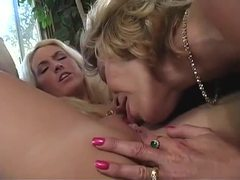 Young and mature blondes have fun movies at lingerie-mania.com