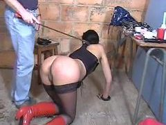 French girl in dungeon is used hard tubes