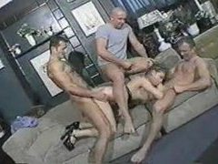 Group sex in a bar with slut videos