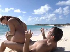 Great sex with naked babe on the beach movies at very-sexy.com