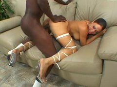 Black whore likes the big black cock tubes