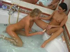 Bathtub lesbian sex with hot babes movies at kilovideos.com
