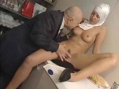 Naughty nun played with by old guy movies at sgirls.net