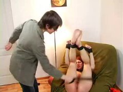 He smacks his teen slave with a belt movies at kilovideos.com