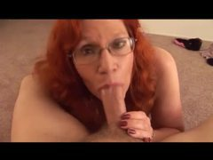 Milf redhead gives bj and a titjob videos