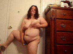 Fat chick dance and strip on webcam videos
