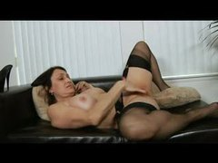 Busty black stockings mature rubs her clit movies at find-best-lesbians.com