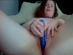 Naughty talking redhead with her vibrator videos