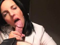 Milf slowly strokes until he cums videos