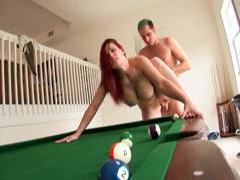 Redhead with big ass boned on pool table movies