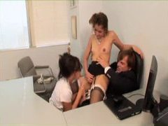 Watch a fiery threesome in the office movies at kilotop.com