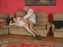 Grandpa and young fat chick have a fuck videos
