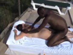 Black guy massages and creampies a girl outdoors movies at kilosex.com