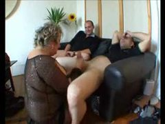 Two guys play with a fat granny videos
