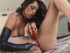 Lesbians in black gloves have hot sex movies at kilopills.com