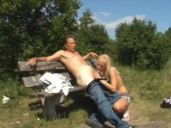 He fucks a slut in a grassy field movies at sgirls.net