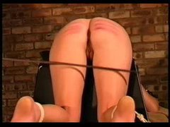 Girl takes a genuine and painful caning videos