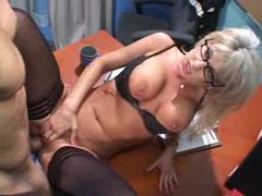 Sexy blonde in glasses insists on getting fucked movies