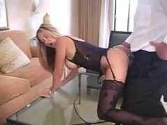 Lingerie and stockings on hot wife in hotel room videos