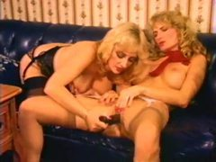 Classic lesbian sex with anal play movies at lingerie-mania.com