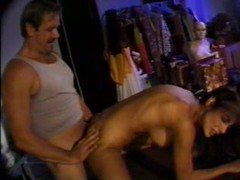 Big cock fucks her ass in mannequin room videos