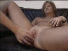Chick sucks him and he fucks her shaved pussy videos