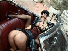 Girls do kinky lesbian sex outdoors with toys videos