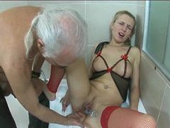Old dude plays with milf in fun scene movies at sgirls.net