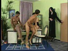 Interracial foursome with three hot sluts videos