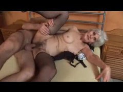 Granny fucked while in her black stockings movies at find-best-lesbians.com