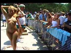 Chicks nude at a great outdoor party videos