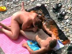 Voyeur clip of couple fucking on beach movies