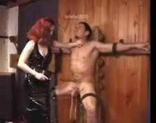 Redhead mistress makes sure he suffers videos
