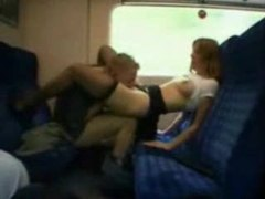 Couple getting dirty on a train videos