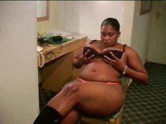 Black girl in hotel room has huge ass movies at sgirls.net