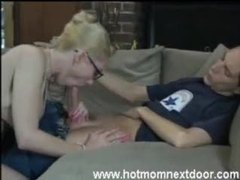 Hot mom in glasses gives a bj movies at sgirls.net