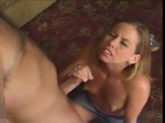 Young blonde gives excellent handjob movies at kilopics.net