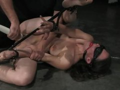 Bondage girl double dildo fuck on floor movies at find-best-mature.com