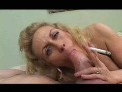 Mature smokes and gobbles a thick dick videos