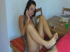 Smoking girl gives footjob, handjob, and rides him movies at find-best-ass.com