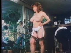 Dude jerks off outdoors as retro babe strips movies at dailyadult.info