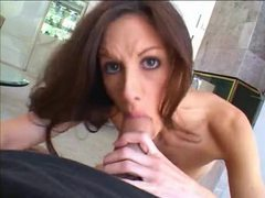 Skinny chick takes big cock in ass after bj videos