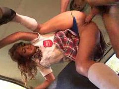 Schoolgirl fucked in the back of the bus videos