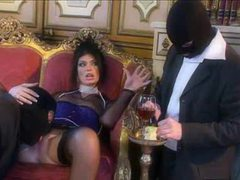 Ultra glamorous slut fucked by masked men videos