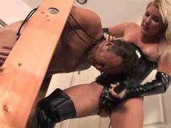 Latex mistress strapon fucks him movies