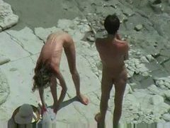 Babe bends over to take cock at beach videos